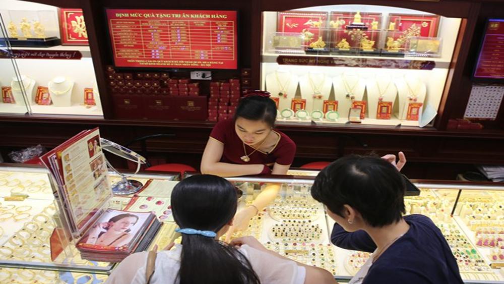 Giá vàng trong nước giảm tới 40 nghìn đồng mỗi lượng